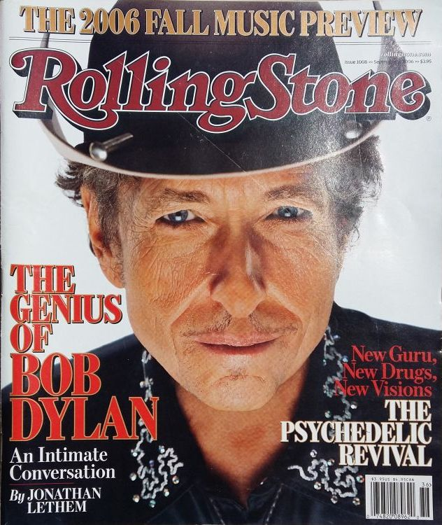 Rolling Stone US magazine september 2006 Bob Dylan cover story