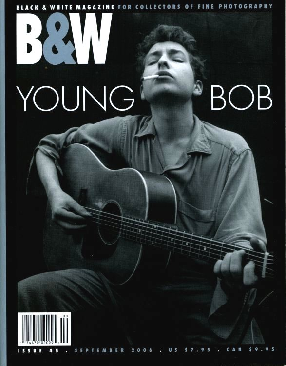 black & white magazine Bob Dylan cover story
