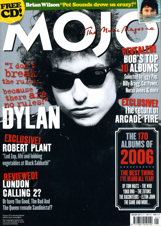 Mojo magazine January 2007 Bob Dylan cover story