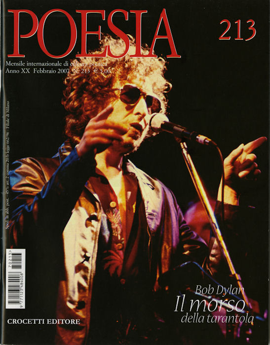 poesia italy magazine Bob Dylan cover story