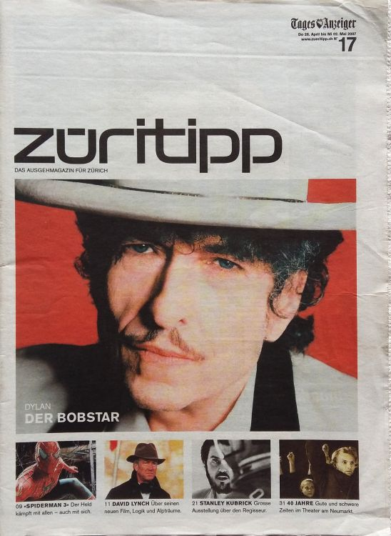 tages anzeiger magazin 2007 Bob Dylan cover story