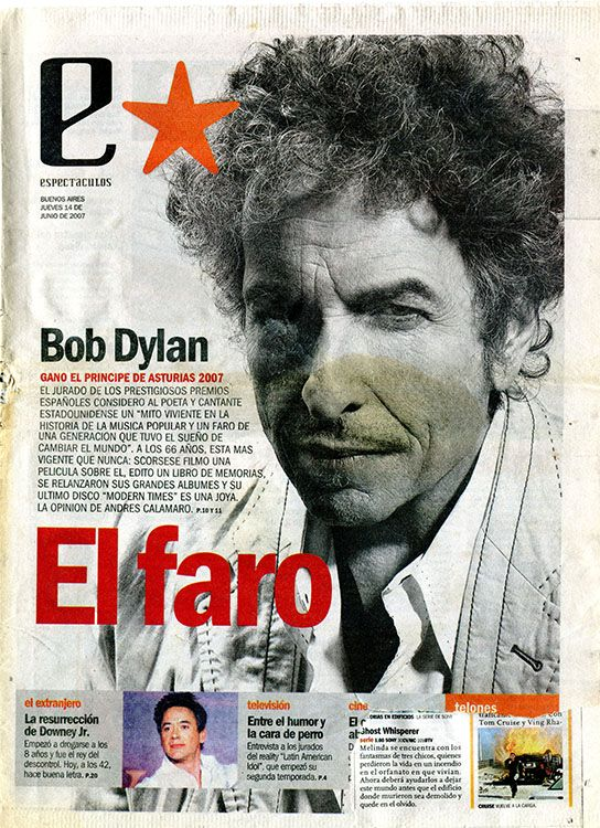 clarin argentina estrella June 2007 supplement Bob Dylan cover story