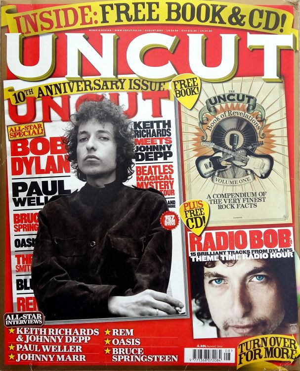 uncut magazine August 2007 Bob Dylan cover story