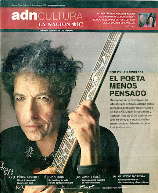 revista la nacion 13 October 2007 magazine Bob Dylan cover story