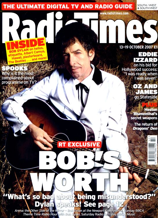 radio times 2007 magazine Bob Dylan cover story