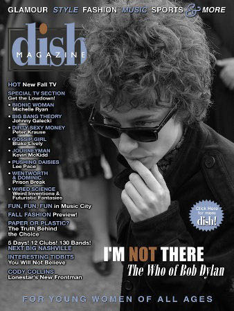 dish magazine Bob Dylan cover story