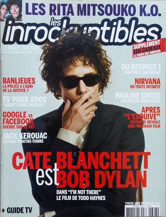 les inrockuptibles 2007 magazine Bob Dylan cover story