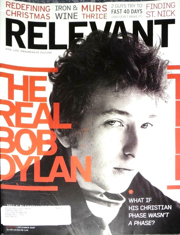 relevant magazine Bob Dylan cover story