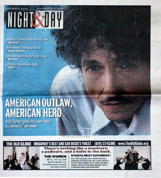 night & day magazine Bob Dylan cover story