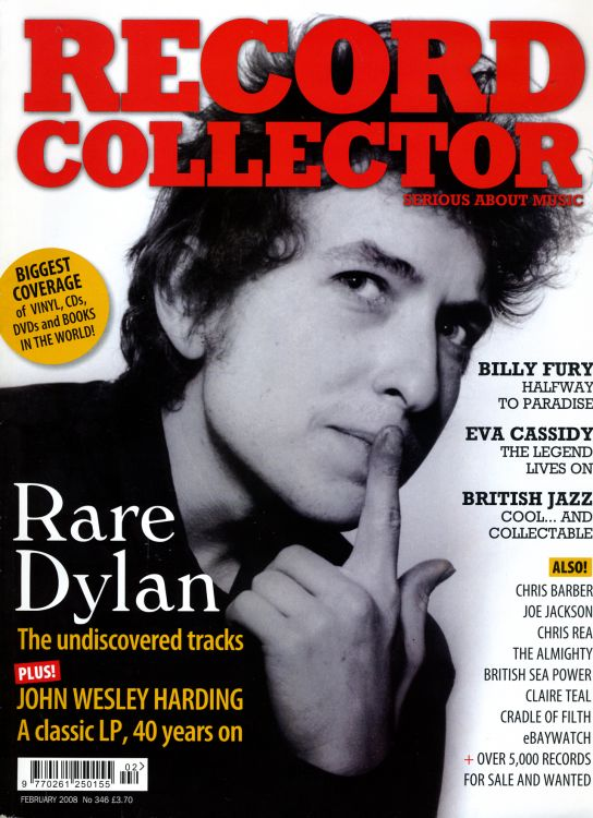 record collector magazine #346 uk Bob Dylan cover story