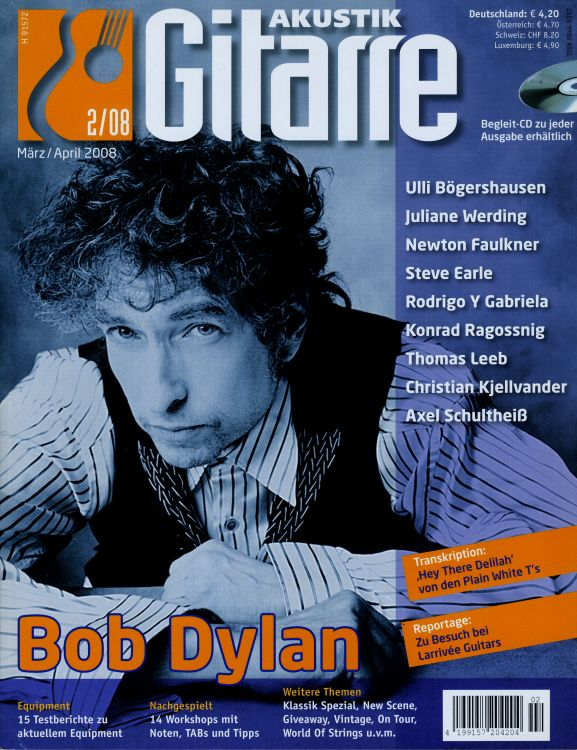 akustic magazine Bob Dylan cover story