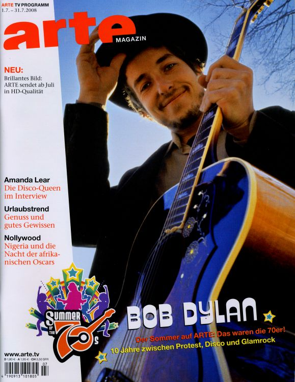 arte magazine germany Bob Dylan cover story