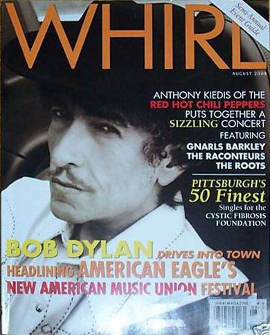 whirl magazine Bob Dylan cover story
