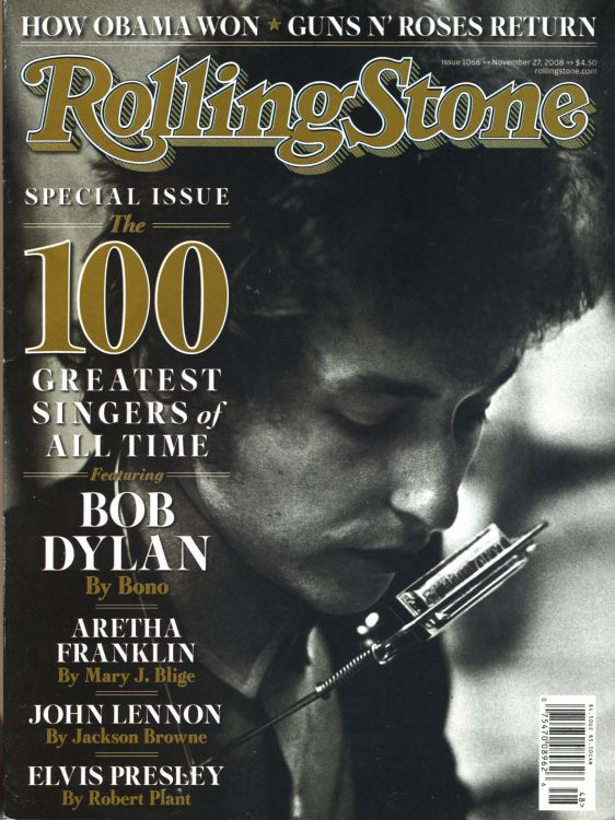 Rolling Stone US magazine november 2008 Bob Dylan cover story