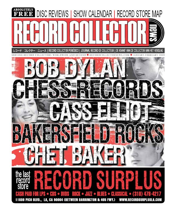 record collector news usa January 2009 magazine Bob Dylan cover story