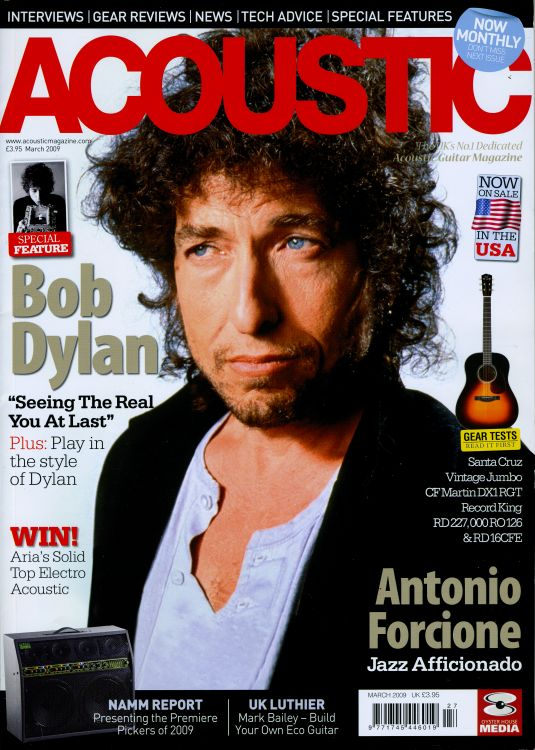 acoustic uk magazine Bob Dylan cover story