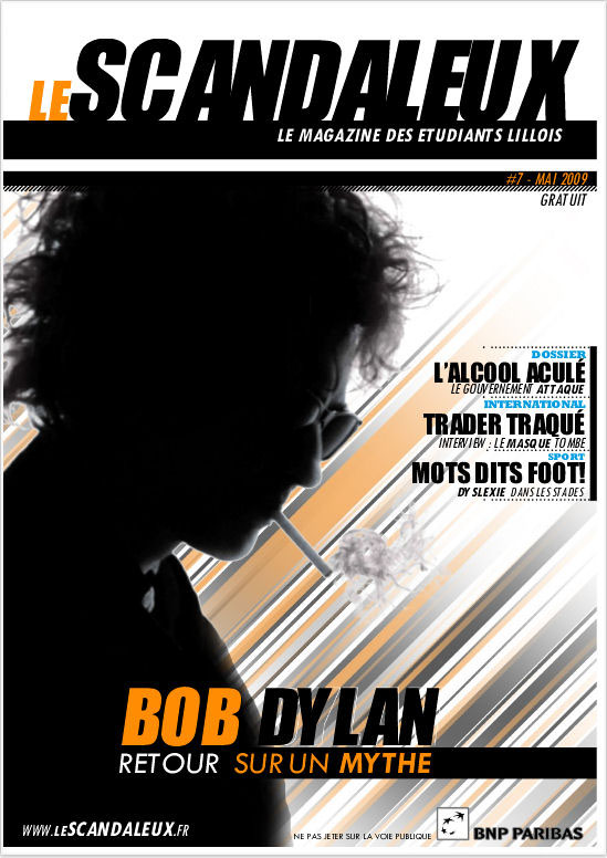 le scandaleux magazine Bob Dylan cover story