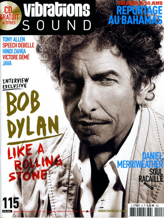 vibrations sound magazine Bob Dylan cover story