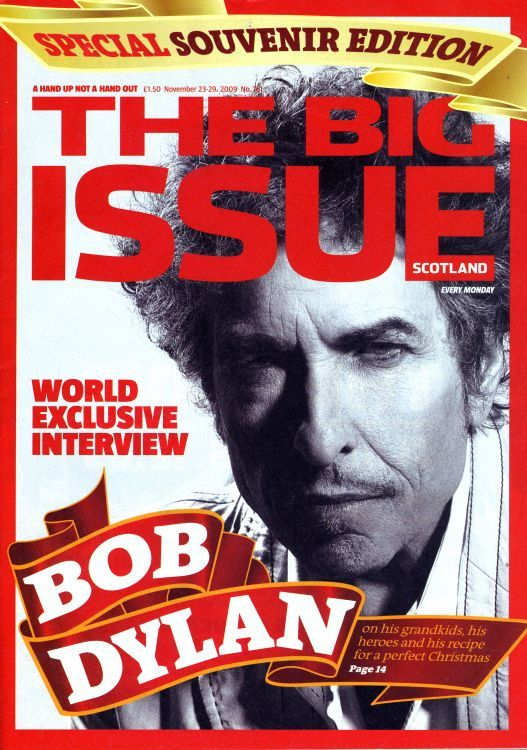 the big issue scotland 2011 magazine Bob Dylan cover story