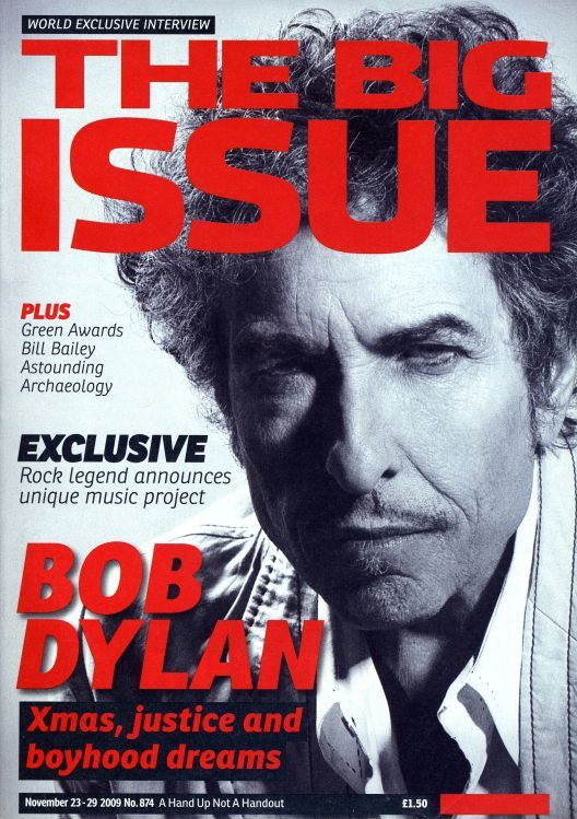 the big issue 2009 #874 magazine Bob Dylan cover story