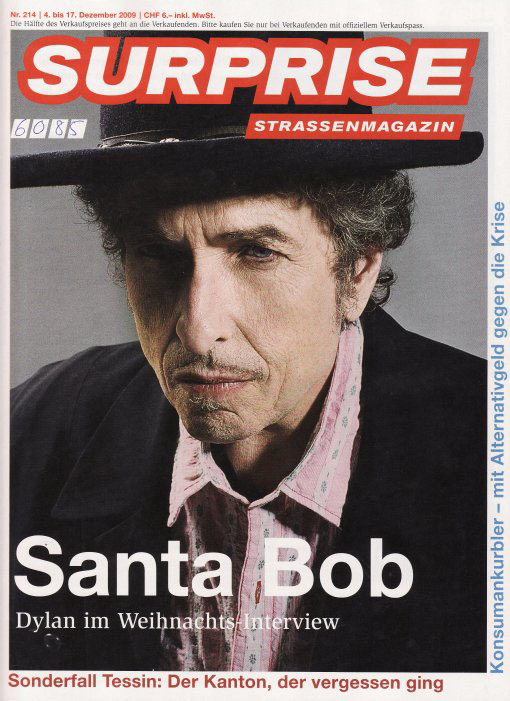 surprise magazine Bob Dylan cover story
