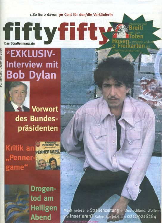 fifty fifty magazine Bob Dylan cover story