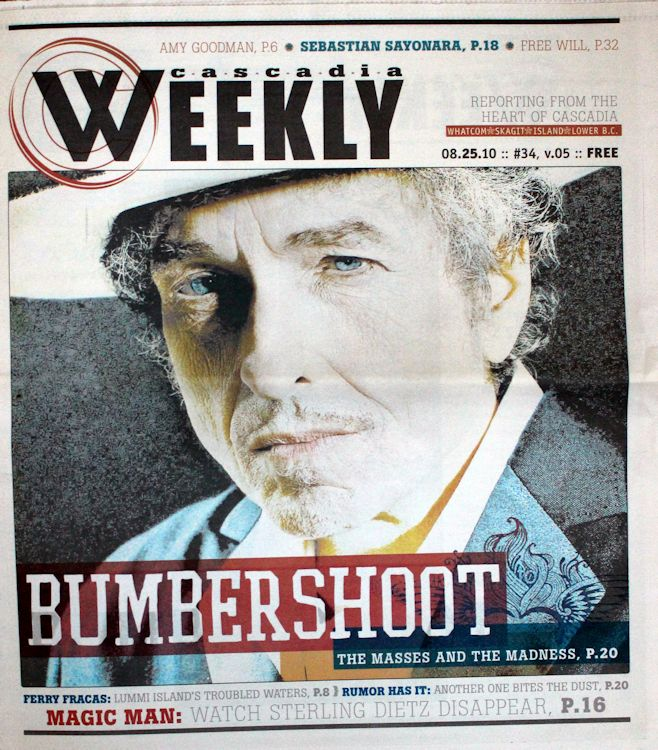 cascadia weekly magazine Bob Dylan cover story
