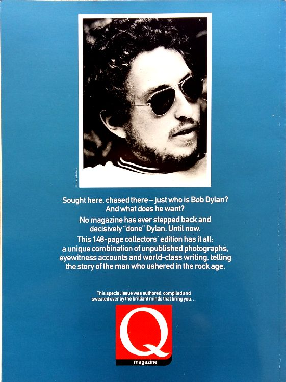 Q October 2000 magazine Bob Dylan cover story back