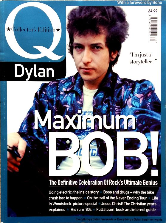 Q October 2000 magazine Bob Dylan cover story
