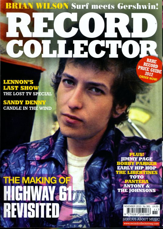 record collector magazine #381 uk Bob Dylan cover story