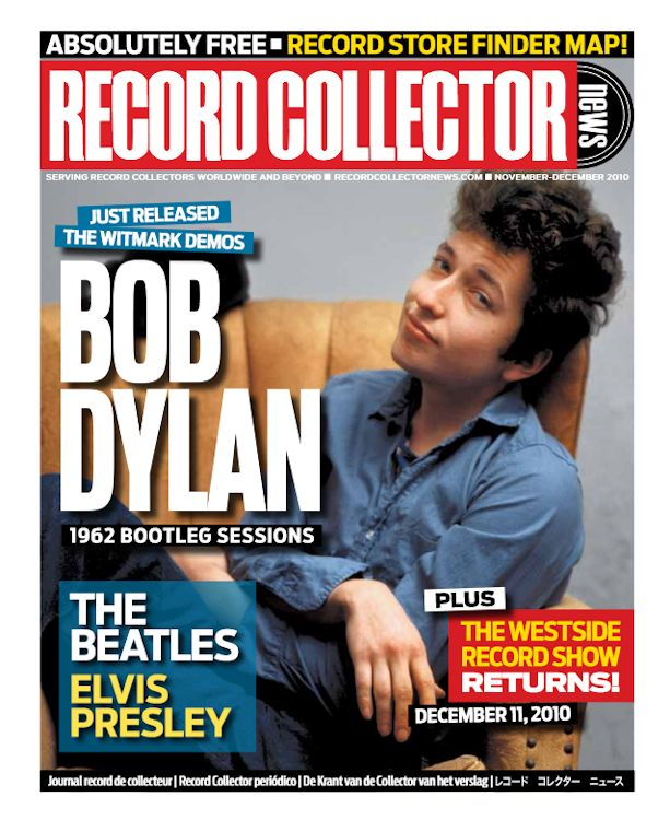 record collector news usa November 2010 magazine Bob Dylan cover story