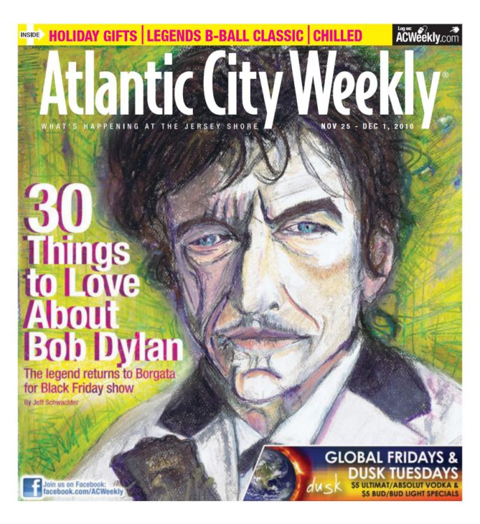 atlantic city weekly magazine Bob Dylan cover story