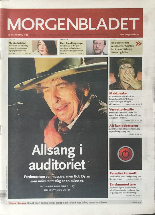 morgenbladet magazine Bob Dylan cover story