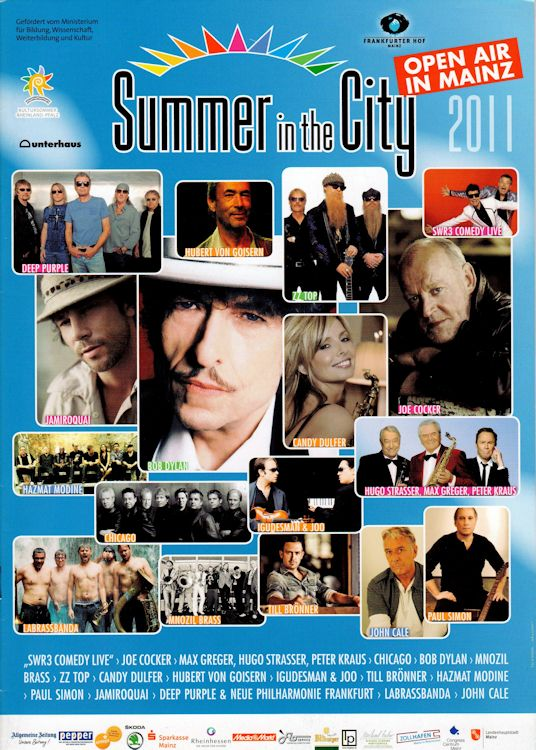 summer in the city magazine Bob Dylan cover story