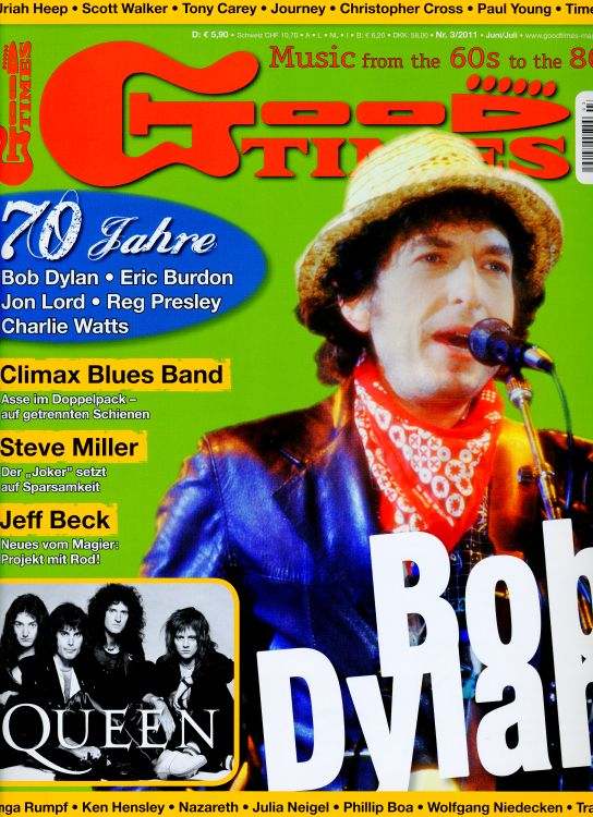 good times germany 2011 magazine Bob Dylan cover story
