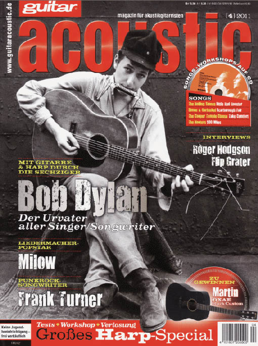 guitar acoustic germany 2011 magazine Bob Dylan cover story