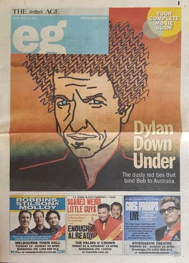 The age 2011 australia Bob Dylan cover story