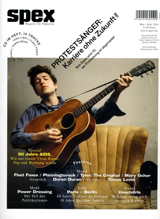 spex magazine May 2011 Bob Dylan cover story