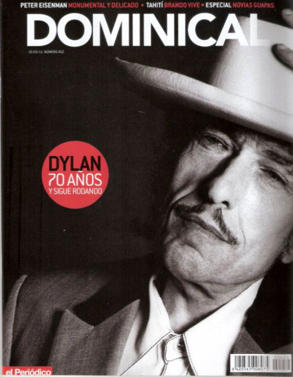 el periodico dominical magazine Bob Dylan cover story