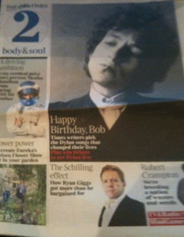 times 2 uk 24 May 2011 magazine Bob Dylan cover story