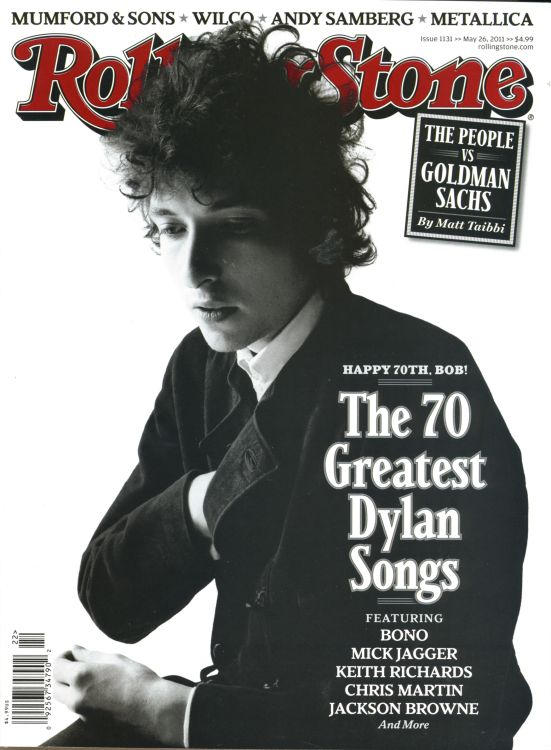 Rolling Stone US magazine 26 may 2011 Bob Dylan cover story