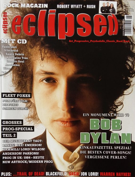 eclipsed magazine Bob Dylan cover story