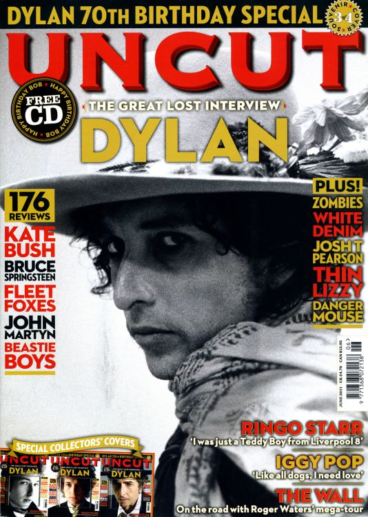 uncut magazine June 2011 #3  Bob Dylan cover story