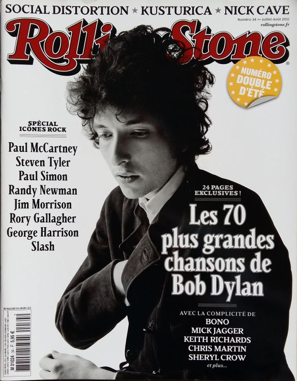rolling stone magazine france July 2011 Bob Dylan cover story