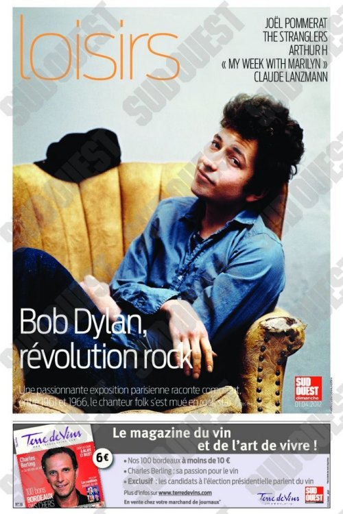 1 April sud ouest supplemant Bob Dylan cover story