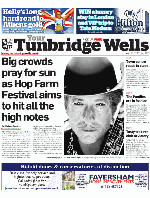 your tunbridge wells magazine Bob Dylan cover story