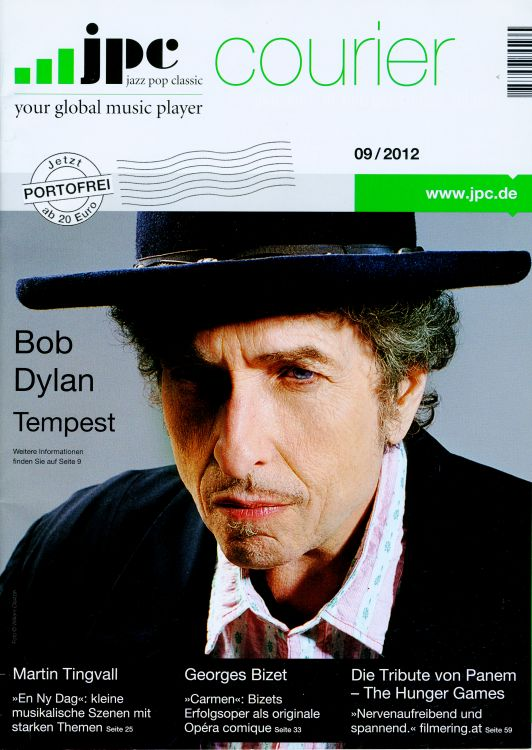 jpc courier 2012 magazine Bob Dylan cover story