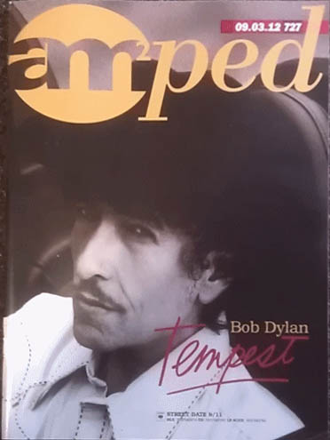 amped 2012 magazine Bob Dylan cover story