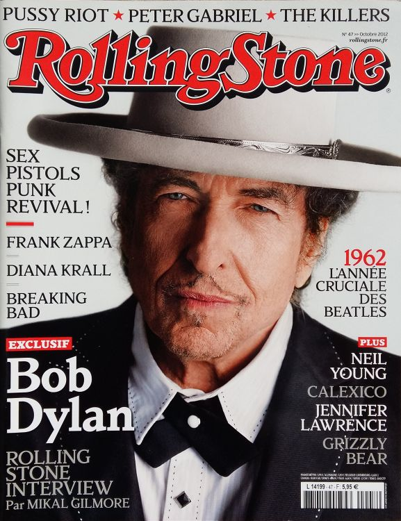 rolling stone magazine france October 2012 Bob Dylan cover story