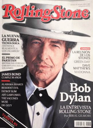 rolling stone magazine mexico October 2012 Bob Dylan cover story